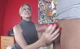 Mrs. Jodi West and Teen Gabby Milk Cock