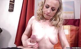 POV Granny Cock Milking Handjob